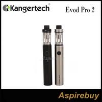 Kanger Evod Pro 2 Kit de démarrage 2500mah Batterie avec réservoir 4ML avec 0.5ohm et 1.0ohm CLOCC Fentes ajustables pour flux d'air Bobines 100% d'origine