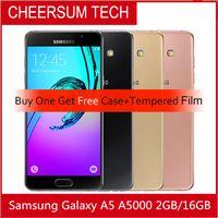 vente en gros Samsung Galaxy A5 A5000 A500F téléphones cellulaires originaux LTE 16GB Dual Sim 5.0 Inch Quad Core 13 MP Caméra refurbished 5pcs DHL gratuit