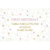 Personalizzato 1 ° compleanno Party Sfondo brillare scintillio Little Stars Polka Dots Neonato Puntelli per la doccia Bambini foto sfondi