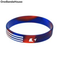 1PC Trendy Decoration Ink Filled Logo The American Flag Sili...