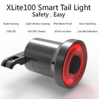 Mini lumière de frein de vélo Intelligent Sensory Vélo Queue Arrière Lumière USB Charge Vélo Feu Arrière Lampe
