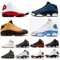 64c4227ec097 13 13s Zapatillas de baloncesto para hombre Phantom Chicago Gato negro  Criado Dinero puro Azul marino