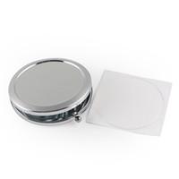 에폭시 스티커가있는 빈 컴팩트 거울 새로운 화장품 포켓 미러 메이크업 DIY Decoden # M070S에 대 한 싼 콤팩트 실버 색상