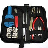 GOOSUU Per orologiaio Kit di attrezzi per la riparazione dell'orologio Kit di attrezzi per la sostituzione della batteria per la sostituzione degli orologi 16 pezzi a Set con borsa