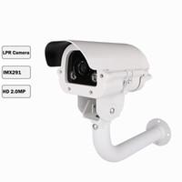 لوحة ترخيص LPR كاميرا سيارة الاعتراف كاميرا CCTV كاميرا مراقبة الضوء الأبيض بقيادة 1080P سوني IMX291 شرائح عدسة varifocal مانعة لتسرب الماء
