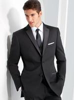 Özel Siyah Erkek Klasik Düğün Smokin Groomsmen Suits Best Man 3 Parça Balo Blazer Giymek (Ceket + Pantolon + Yelek) Trajes de Hombre