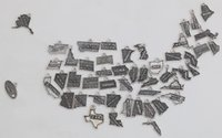 Hot Sale America 50 States Of Map Charms Mixed Design Alloy ...