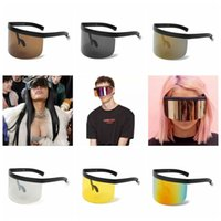 Oversized Mask Shape Shield Style Sunglasses Cool Street Sna...