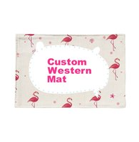 Customized Western Mat Cotton and Linen Western Food Pad Ins...