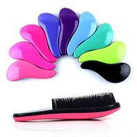 10 PCS ATACADO Magia Detangling Lidar Com Emaranhado Escova de Cabelo Chuveiro Pente Salon Styling Ferramenta Tamer Hot Hairbrush