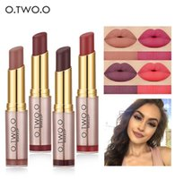 O. TWO. O Makeup Nude Matte Lipstick 20 Colors batom Vevet Lon...