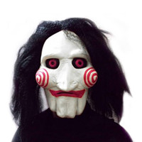 Cool Hot New Movie Saw Chainsaw massacre Jigsaw Puppet Masks...