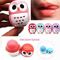 Búho hidratante bálsamo de labios planta natural fruta embellecimiento esfera chapstick pop lindo nutritivo labios pomada maquillaje