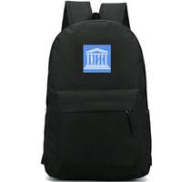 اليونسكو على ظهره منظمة تعليمية daypack ONUESC العلم المدرسية راية الظهر الرياضة حقيبة مدرسية في الهواء الطلق حزمة اليوم