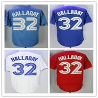 men' s 32 Roy Halladay Jersey Blue White Red Grey Black ...