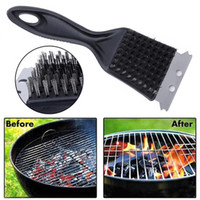 10 pc Stainless Steel Grill BBQ Cleaning Brush Barbecue Cook...