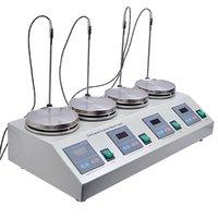Hotplate ile 4 adet Çok üniteli Dijital Termostatik Manyetik Karıştırıcı karıştırıcı