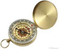 Raffinierter Kompass G50 leuchtender kupferner Kompass hintergrundbeleuchtetes Taschen-Uhr-Geschenk Aiti-Messing Kompass-Abdeckung spezielle Geschenke 240PCS