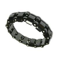 NEW Mens Healing Black Ematite magnetico Perline di pietra Bracciali Moda nero Ematite magnetica perline Gioielli braccialetto