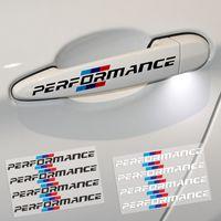 4 ADET / TAKıM Araba Styling Araç Kapı Kolu Araba Çıkartmaları Performans Dekorasyon Için Evrensel BMW f30 f34 f10 e46 e39 e60 e90 e70 e71 x1 x3 x5 x6