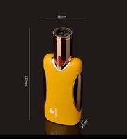 COHIBA 4 개의 토치 불꽃 시가 라이터 방풍 보충 물 부탄 토치 가스 금속 라이터 원래 자메이카 명품 선물 박스 포장