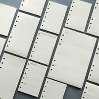 45 folhas 100g DIY caderno espiral recargas de papel A5 A6 semanais mensais papéis de jornal xadrez cheque em branco pontos forrados