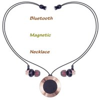 BT- 30 Magnetic Sport Bluetooth Earphone Fashion Necklace Hea...