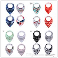Set 4pcs 82 Designs baby infant triangle Bandana bibs cartoo...