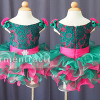 Real Images Toddler Pageant Dresses Bateau Neck Lace Bodice ...