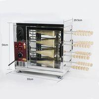 Gıda işleme ticari otomatik elektrikli baca rulo kek fırın ahşap çubuk ekmek haddeleme fırınlama makinesi
