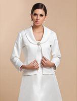 Yeni Custom Made Vintage Uzun Kollu Saten Parti Akşam Casual Toka Düğün Sarar Coat / Ceketler