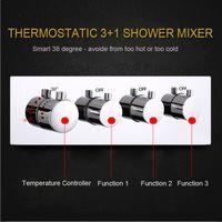 3 Funktionen Shower Control Switch Ventil Badezimmer Dusche Armaturen High Flow Verdeckte Dusche Mixer BrassThermatic Ventile