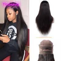 Малайзийские необработанные человеческие волосы 360 кружева фронтальный парик натуральный цвет шелковистые прямые регулируемые полосы кружева лобные парики 10-28 дюймов