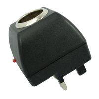 100 V-240 V AC para DC 12 V Isqueiro Do Carro Tomada de Parede Tomada Plug Power Adapter Converter UK Plug de Alta Qualidade NAVIO RÁPIDO