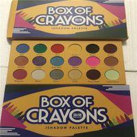 2017 새로운 메이크업 팔레트! BOX OF CRAYONS 화장품 아이 섀도우 팔레트 18 가지 색상 iSHADOW 팔레트 쉬머 매트 EYE 뷰티 DHL 배송