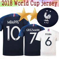 جديد 2 نجمة 2018 الفانيلة كأس العالم POGBA GRIEZMANN PAYET KANTE Mbappe لكرة القدم تي شيرت 18 19 المنتخب الوطني بعيدا عن كرة القدم البلوزات