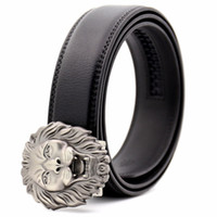 KAWEIDA Fashion Lion Metal Automatic Buckle Belt Designer Belts for Men 2018 Ceinture Homme  Men's Genuine Leather Belt