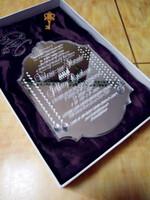 Hochwertige Acryl Silber Spiegel angepasst Hochzeitseinladungen mit kostenlosen Umschlägen (weiße Box nicht enthalten) (L165mmxW114mmxT2mm) BL-181022