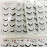 Mode rouge cerise faux cils 5 paires / pack 8 styles naturels longs maquillage professionnel gros yeux de haute qualité