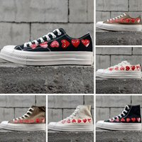 Skate Shoes 1970s Classic Canvas Shoes Original CDG Play Joi...