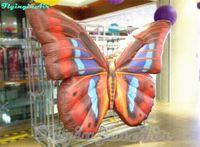 Ala simulata della farfalla gonfiabile decorativa di 2m per il parco, il partito e l'evento