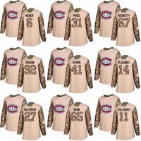 2018 Camo Veterans Day 41 Paul Byron 27 Alex Galchenyuk 42 Byron Froese 14 Tomas Plekanec Montreal Canadiens Custom Hockey Jerseys