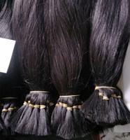 100% Human Hair Raw Indian Temple Hair Bulk Brading Hair Natural Color Dyeable 12-28 inch