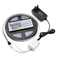 Esnek Lamba Şerit 12 V IP67 Su Geçirmez RGB 5 M 300 Leds LED Şerit Işık Dize Bant 5050 SMD / 44 Anahtar Uzaktan Kumanda / 3A Güç