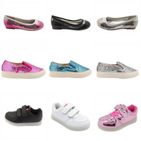 Kids Zapatos Shoex Led Light Sneakers Shining Patent Sequine...