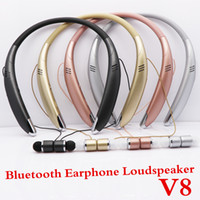 V8 Bluetooth Headset Wireless Stereo Bluetooth Earphone Head...