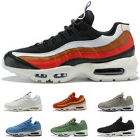 2018 New 95 OG Anniversary 95 Mens Running Shoes Color strip...