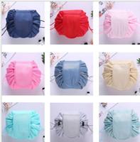 dcb7c02e9e Wholesale floral makeup bags for sale - 15 color Vely lazy cosmetic bag  Flamingo Unicorn print