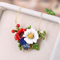 2018 Fashion Poppies Flowers Pendant Necklaces For Women 18K...