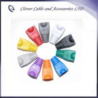 شحن مجاني 100 قطعة / الوحدة rj45 قبعات غمد cat5 cat5e cat6 كم واقية متعدد الألوان